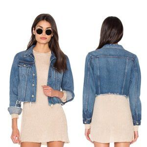 GRLFRND x Revolve Cara Cut Off Crop Denim Jacket S